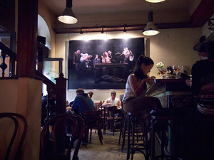 in the Kiadó bar